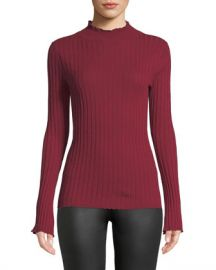 Joie Gestina Ribbed Mock-Neck Sweater at Neiman Marcus