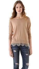 Joie Hilano Lace Trim Sweater at Shopbop