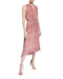 Joie Hilarie Sleeveless Snake-Print Midi Dress at Neiman Marcus
