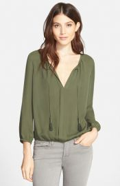 Joie Jacinta Silk Blouse in Military at Nordstrom