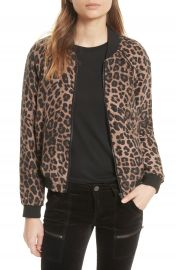 Joie Julita Leopard Print Silk Jacket at Nordstrom