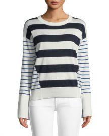 Joie Kaylara Striped Long-Sleeve Sweater at Neiman Marcus