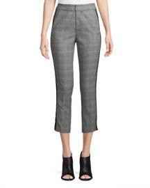 Joie Kenadia Side-Stripe Cropped Straight-Leg Pants at Neiman Marcus