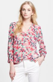 Joie Leala Floral Silk Blouse at Nordstrom