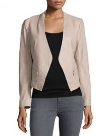 Joie Libertini Collarless Leather Jacket at Neiman Marcus