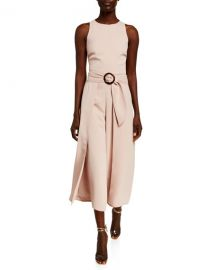 Joie Mairead Belted Draped Sleeveless Jumpsuit at Neiman Marcus