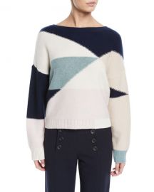 Joie Megu Colorblock Pullover Sweater at Neiman Marcus