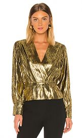 Joie Nadeen Blouse in Gilded from Revolve com at Revolve