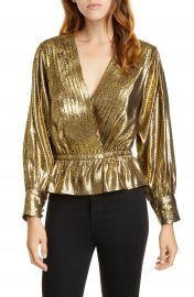 Joie Nadeen Gilded Lam   Peplum Blouse   Nordstrom at Nordstrom