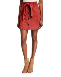 Joie Neida Suede Button-Front Skirt at Last Call