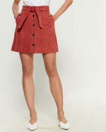 Joie Neida Suede Button-Front Skirt at Century 21