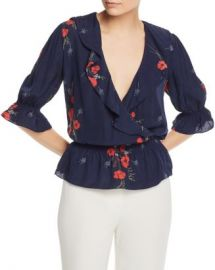 Joie Ottoline Floral-Print Embroidered Top Women - Bloomingdale s at Bloomingdales