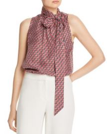 Joie Pascale Tie-Neck Silk Top Women - Bloomingdale s at Bloomingdales