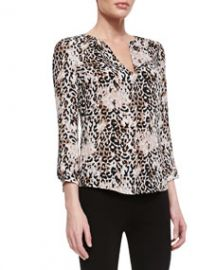 Joie Pearline Silk Leopard-Print Blouse at Neiman Marcus
