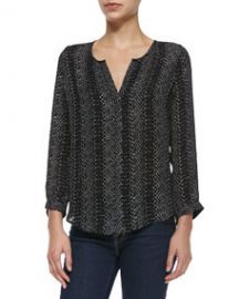 Joie Purine Long-Sleeve Printed Blouse at Neiman Marcus