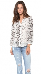 Joie Purine Snow Leopard Top at Shopbop