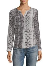 Joie Romona Snakeskin Blouse at Saks Off 5th