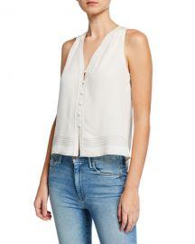 Joie Tadita Button-Front Sleeveless Top at Neiman Marcus