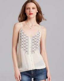 Joie Tank - Kaline Embroidered Silk at Bloomingdales