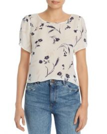 Joie Wira Floral-Print Silk Top Women - Bloomingdale s at Bloomingdales