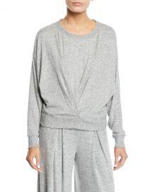 Joie Yerrick Draped Sweatshirt at Neiman Marcus