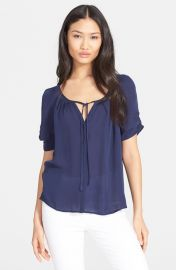 Joie and39Berkeleyand39 Silk Top in Navy at Nordstrom