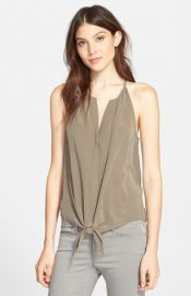 Joie and39Dashielland39 Tie Front Silk Top at Nordstrom