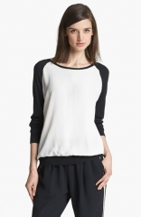 Joie and39Malena Band39 Mixed Media Sweater at Nordstrom