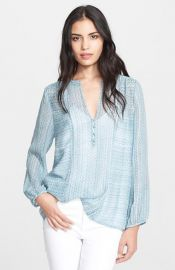 Joie and39Parmenaand39 Print Silk Shirt at Nordstrom