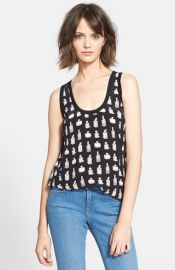 Joie and39Rainand39 Perfume Bottle Print Silk Tank at Nordstrom
