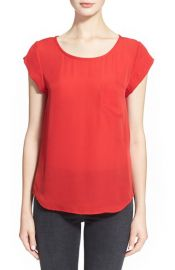 Joie and39Rancherand39 Silk Pocket Top at Nordstrom