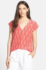 Joie and39Rubinaand39 Print Silk Tee at Nordstrom