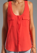 Joie balsa top in cherry at Revolve