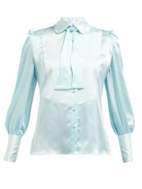 Jolly pussy-bow silk blouse at Matches