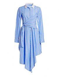 Jonathan Simkhai - Asymmetric Oxford Wrap Dress at Saks Fifth Avenue