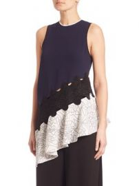 Jonathan Simkhai - Asymmetrical Constellation-Print Top at Saks Fifth Avenue