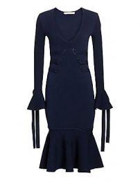Jonathan Simkhai - Grommet Jacquard V-Neck Dress at Saks Fifth Avenue
