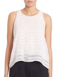 Jonathan Simkhai - Lace-Up Texture Tank Top at Saks Fifth Avenue