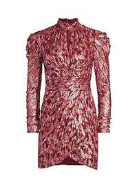 Jonathan Simkhai - Metallic Jacquard Mockneck Dress at Saks Fifth Avenue