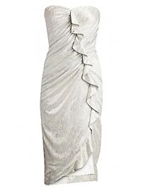 Jonathan Simkhai - Plisse Lam   Ruffled Bustier Dress at Saks Fifth Avenue