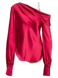 Jonathan Simkhai - Sateen Lingerie Lace Drop-Shoulder Top at Saks Fifth Avenue