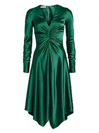 Jonathan Simkhai - Satin Handkerchief-Hem Dress at Saks Fifth Avenue