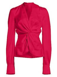 Jonathan Simkhai - Satin Twist Front Long-Sleeve Top at Saks Fifth Avenue