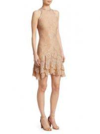 Jonathan Simkhai - Sheer Metallic Tiered Mini Dress at Saks Fifth Avenue