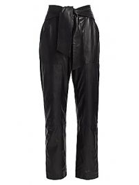 Jonathan Simkhai - Vegan Leather Tie-Waist Pants at Saks Fifth Avenue