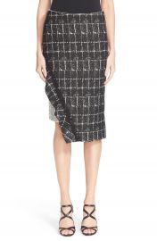 Jonathan Simkhai Asymmetrical Ruffle Pencil Skirt at Nordstrom