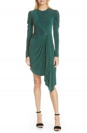 Jonathan Simkhai Asymmetrical Sueded Jersey Faux Wrap Dress   Nordstrom at Nordstrom