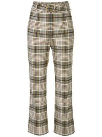 Jonathan Simkhai Belted Plaid Trousers - Farfetch at Farfetch