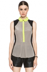 Jonathan Simkhai Colorblock Top at Forward by Elyse Walker
