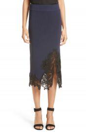 Jonathan Simkhai Lace Appliqu   Knit Pencil Skirt at Nordstrom